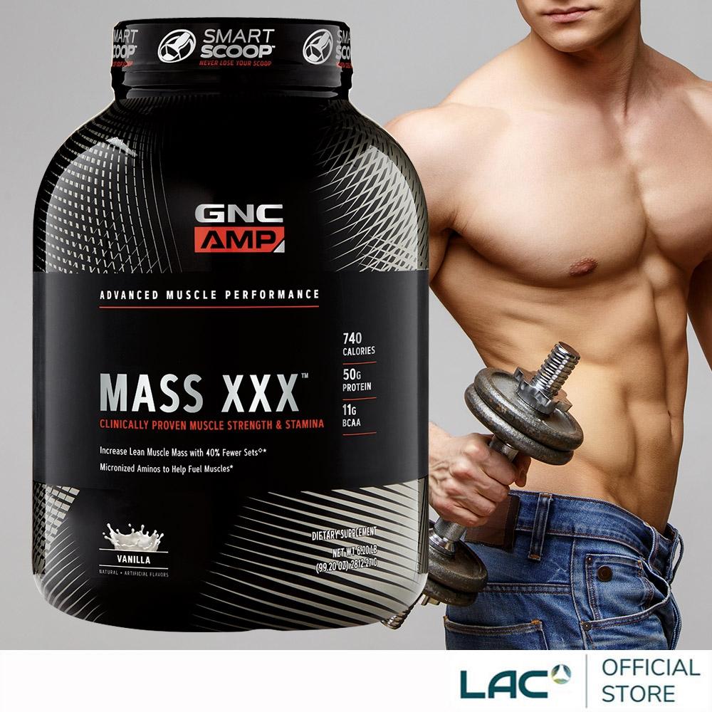 【LAC利維喜】GNC健安喜 AMP麥斯乳清6.2磅-香草口味(增重乳清/麩醯胺酸/精胺酸/白胺酸/肌酸/運動纖盈)