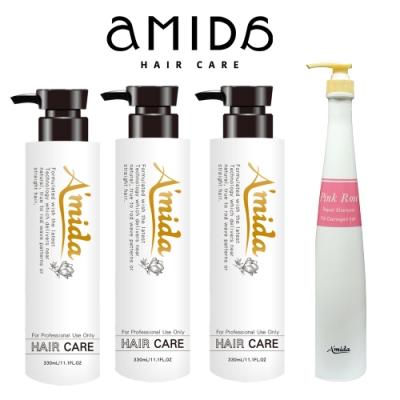 Amida柔順王加碼回饋組(330ml*3+400ml洗髮隨機)