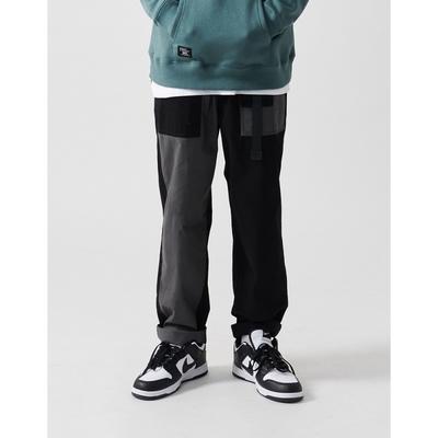 NAVY-拼接款工作褲(二色)-男【C1NA023】