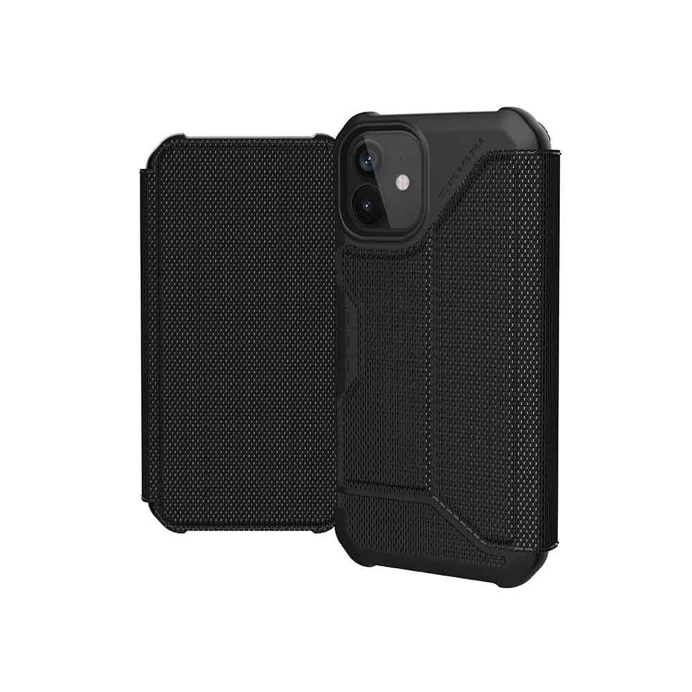 UAG iPhone 12 mini 翻蓋式耐衝擊保護殼-軍用黑