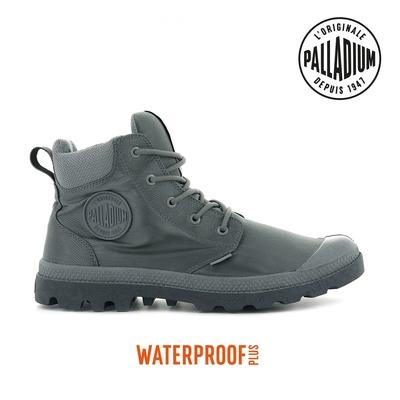 PALLADIUM PAMPA CUFF RCYCL WP+再生纖維中筒防水靴-男-灰