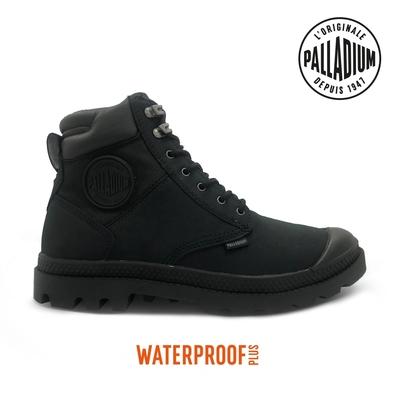 PALLADIUM PAMPA SHIELD WP+ LUX皮革防水靴-中性-黑