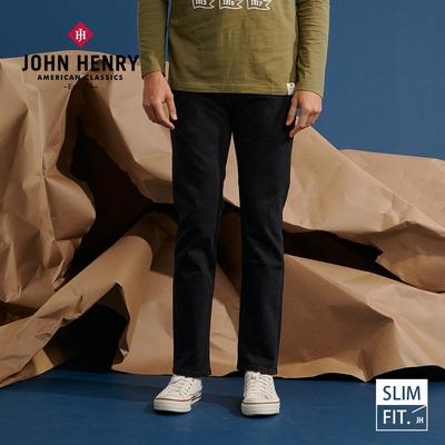 【JOHN HENRY】美式修身牛仔褲-黑