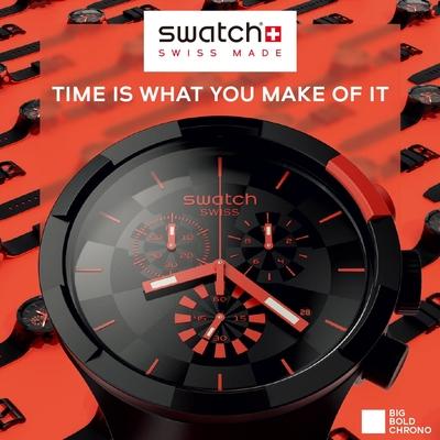 Swatch BIG BOLD系列手錶 CHECKPOINT RED -47mm