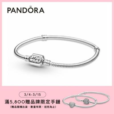 【Pandora官方直營】 Moments 「星際大戰」Logo釦頭手鏈