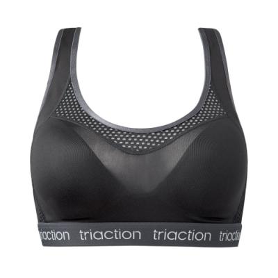 黛安芬-triaction Studio 活力好動挖背運動內衣 M-EEL 黑