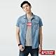 5th STREET 基本美式 牛仔襯衫-男-拔洗藍 product thumbnail 1