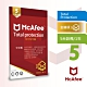 McAfee Total Protection 2021全面防毒保護5台1年中文卡片版 product thumbnail 1