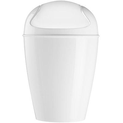 KOZIOL Del搖擺蓋垃圾桶(白XS)