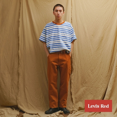 Levis Red 工裝手稿風復刻再造 男款 Stay loose復古寬鬆版繭型工作褲 棕褐 寒麻纖維