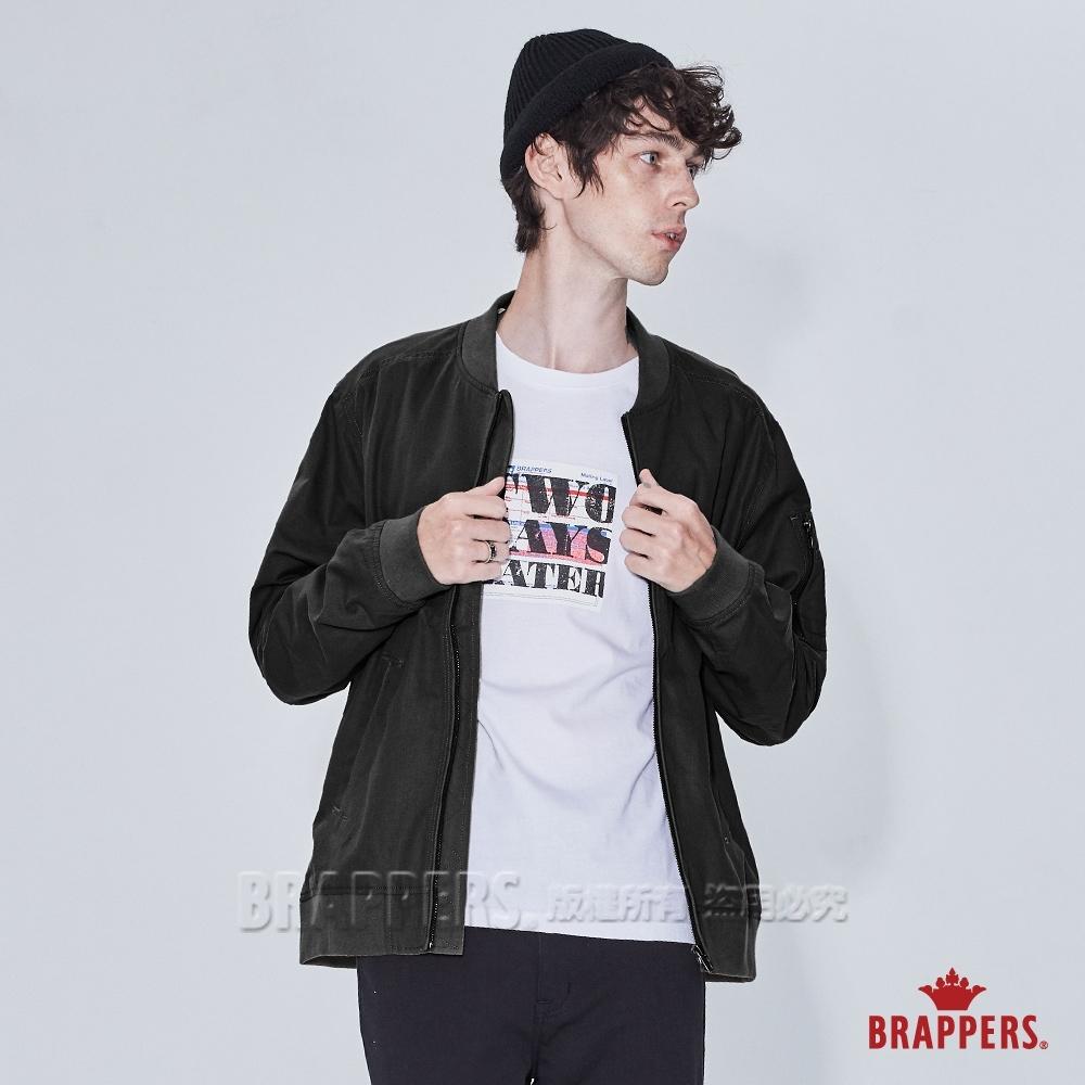BRAPPERS 男款 率性休閒飛行外套-黑