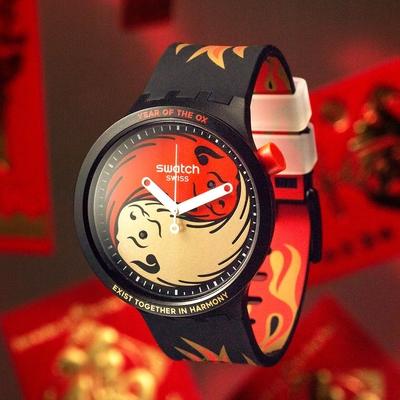 Swatch BIG BOLD系列手錶 牛年限定錶OX ROCKS 2021-47mm