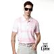【Lynx Golf】男款吸濕排汗斜紋方格山貓胸袋款短袖POLO衫-粉色 product thumbnail 2