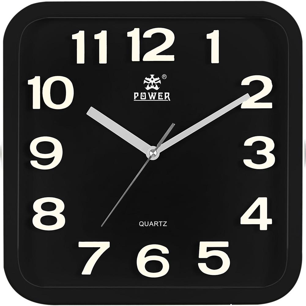 POWER霸王鐘錶-時尚立體字掛鐘-時尚黑-PW-917-BKS-33.5CM