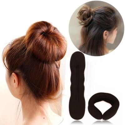 Kiret 甜甜圈包包頭/丸子頭(小)-贈盤髮器小工具10件組