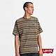 Levis 男款 短袖T恤 迷你刺繡摩登復古Logo 寬鬆休閒版型 橄欖綠條紋 product thumbnail 1