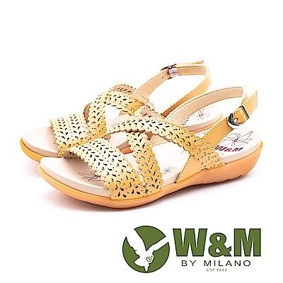 W&M 鏤空桂冠健走健塑涼鞋 女鞋-黃(另有紫)