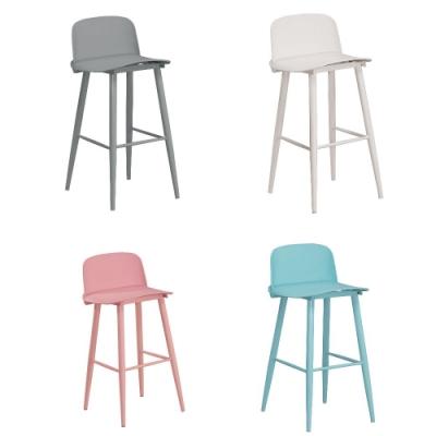 MUNA 美爵吧台椅/休閒椅(共四色) 45X52X96cm