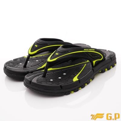 GP時尚涼拖 排水夾腳拖鞋款-ZE546M-60綠(男段)