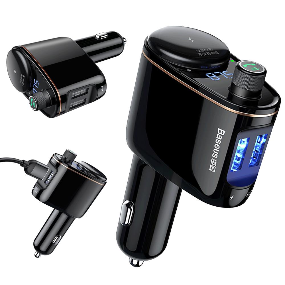 Baseus倍思 火車頭 車載藍牙MP3充電器/車用FM發射器/藍牙FM音樂播放器