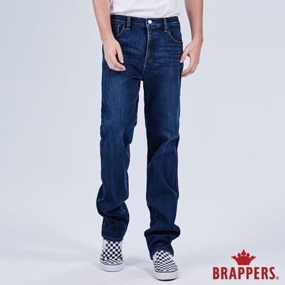 BRAPPERS 男款-彈性保暖直筒褲-藍