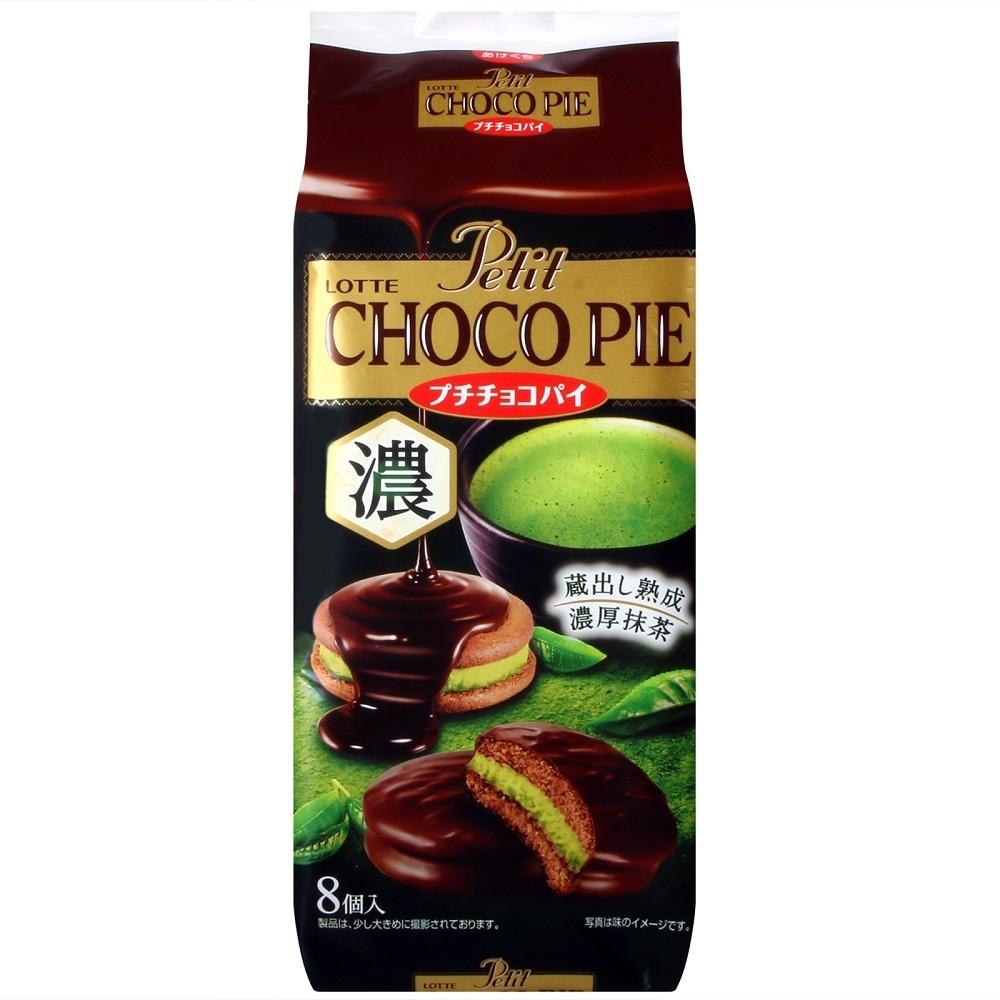 LOTTE 代可可脂巧克力派[濃厚抹茶](116g)