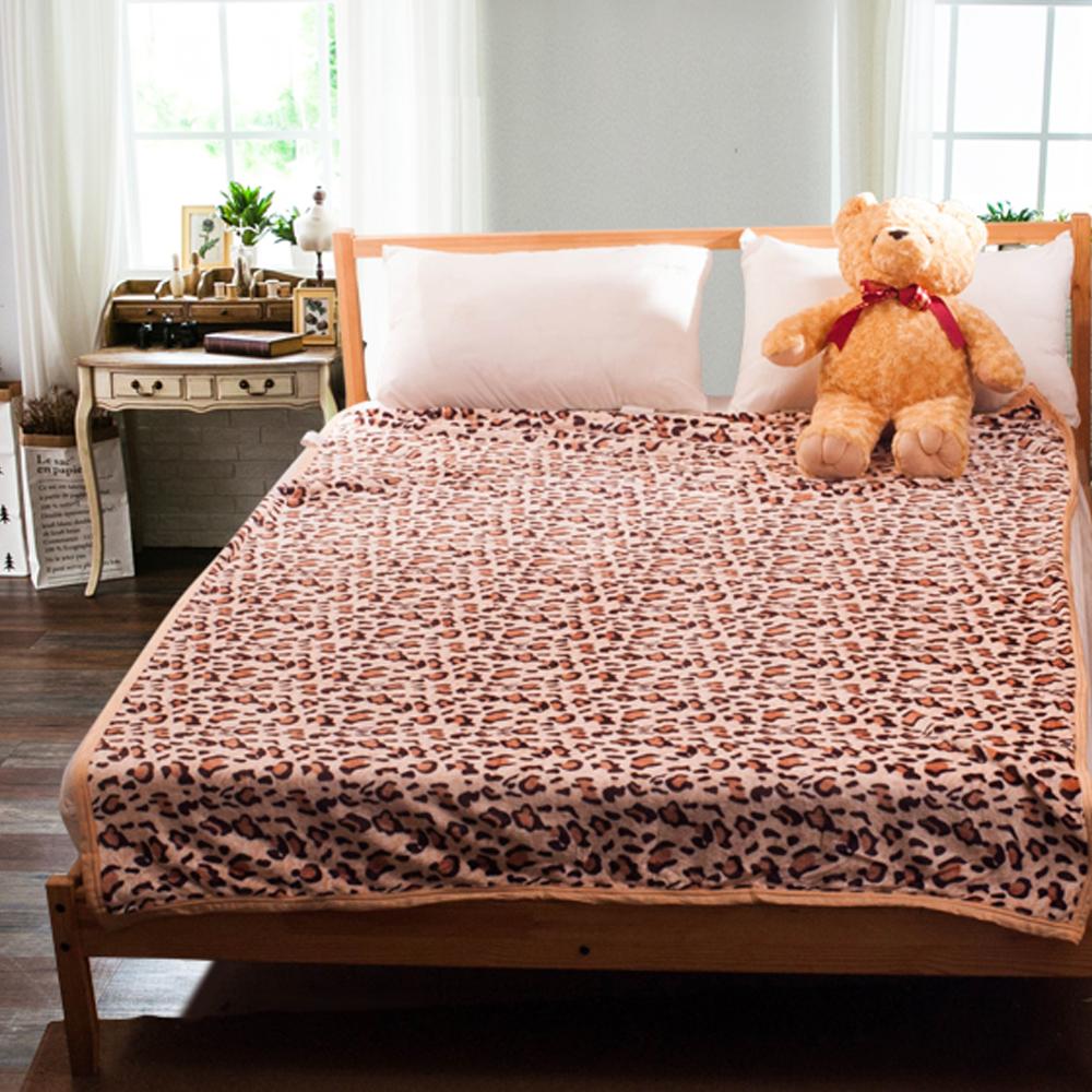 Carolan 熱情豹紋   法萊絨四季毯(150x200cm)