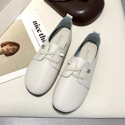 KEITH-WILL時尚鞋館 話題單品絕美雅緻英倫小皮鞋-白