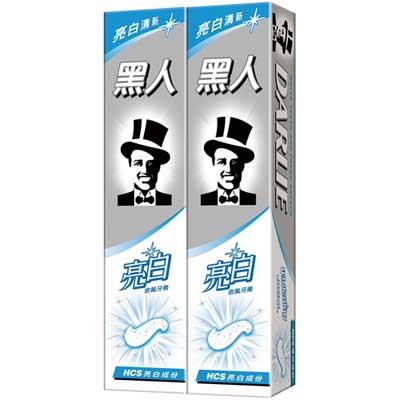 黑人  亮白含氟牙膏 160gX2入