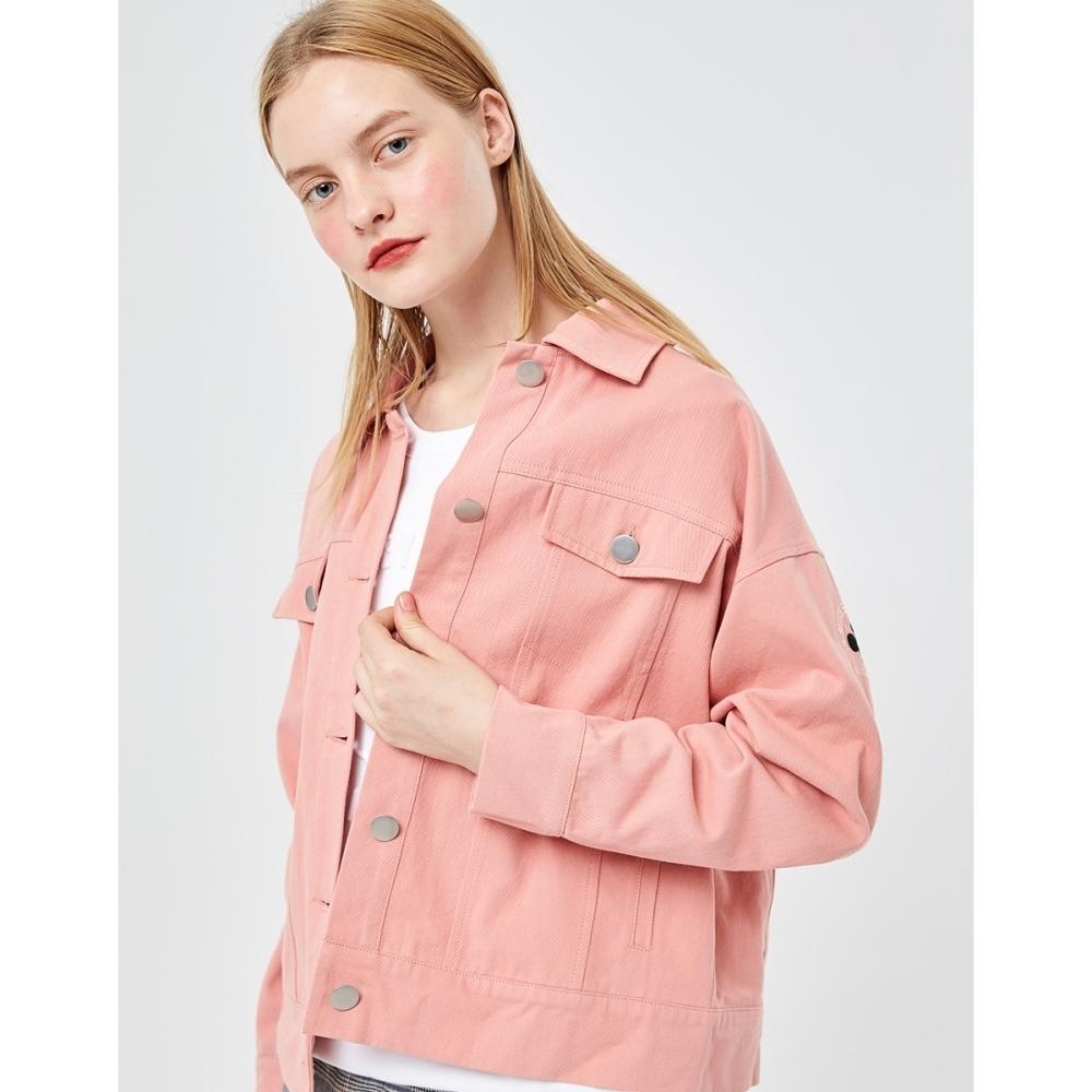 CACO-米奇款落肩夾克(兩色)-女【VDI015】