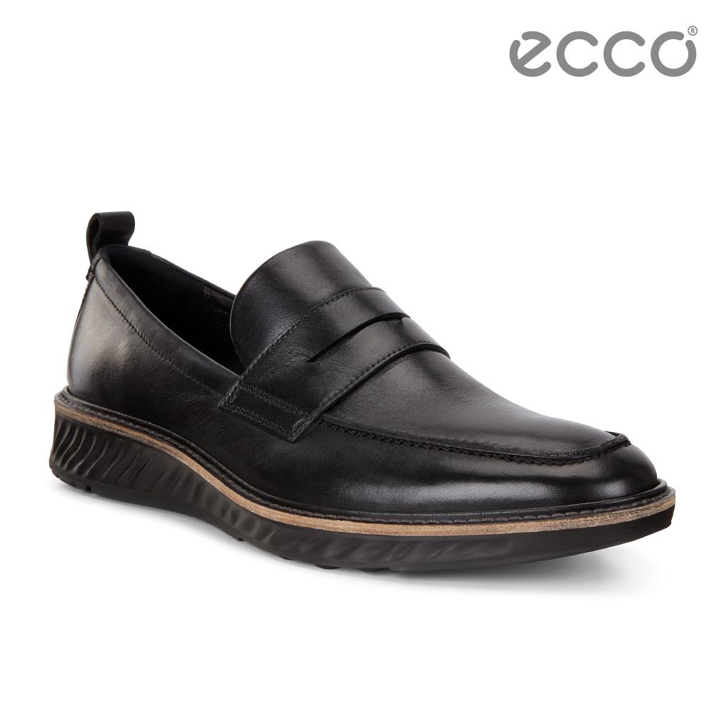 ECCO ST.1 Hybrid 運動紳士復古樂福鞋 男-黑