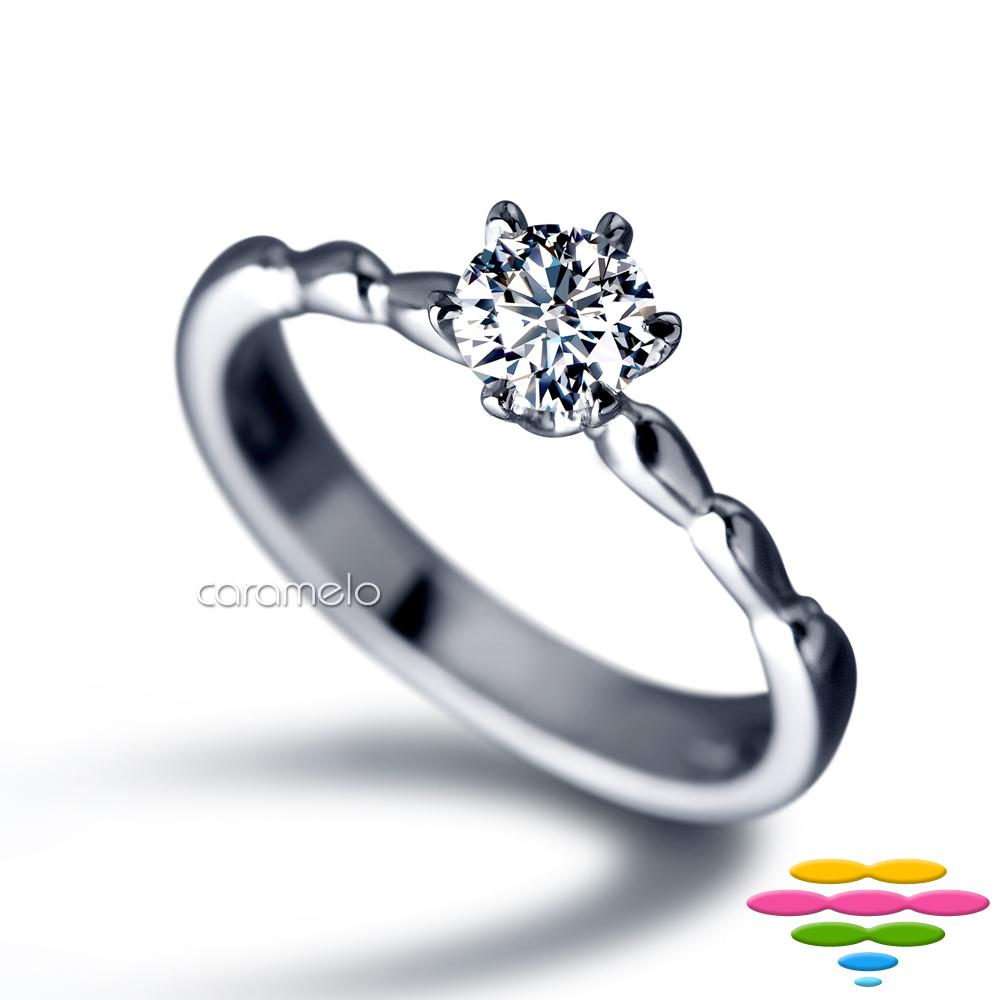 彩糖 GIA 30分鑽石 E/SI2 3EX 六爪鑽戒