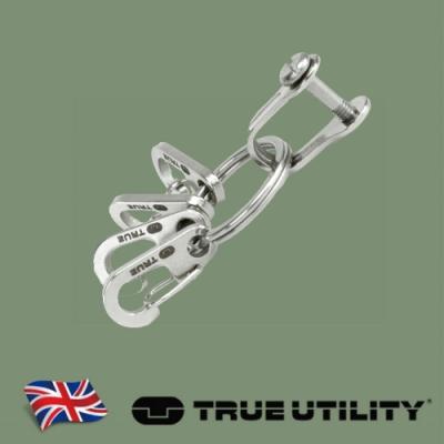 【TRUE UTILITY】英國多功能扣環式鑰匙圈組KeyRing System