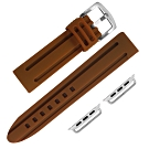 Apple Watch 蘋果手錶替用錶帶 加厚 矽膠錶帶-褐色