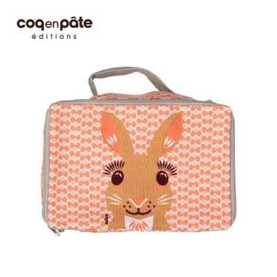 【COQENPATE】法國有機棉布包-方方兒拎出門- 兔子