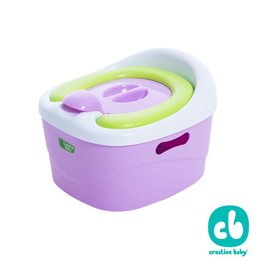 Creative Baby多功能三合一學習軟墊馬桶(Horseshoe)(紫色)