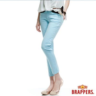 BRAPPERS 女款 新美腳Royal系列-彈性九分褲-薄荷藍