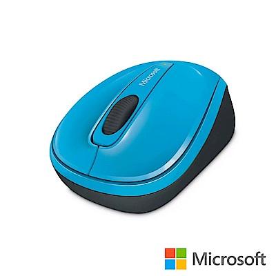 微軟 無線行動滑鼠 3500 - 藍 盒裝