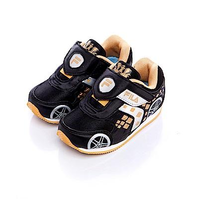FILA KIDS小童EVA電燈慢跑鞋-黑金7-J455S-088