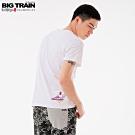 BigTrain 家將金魚圓領短袖-男-白色