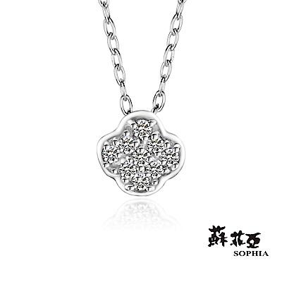 蘇菲亞SOPHIA - 輕珠寶系列窗花0.06克拉鑽石套鏈