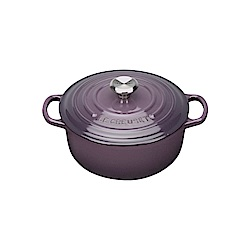 LE CREUSET 琺瑯鑄鐵典藏圓鍋 16cm-葡萄紫-