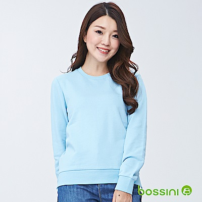 bossini女裝-圓領厚棉T恤01藍