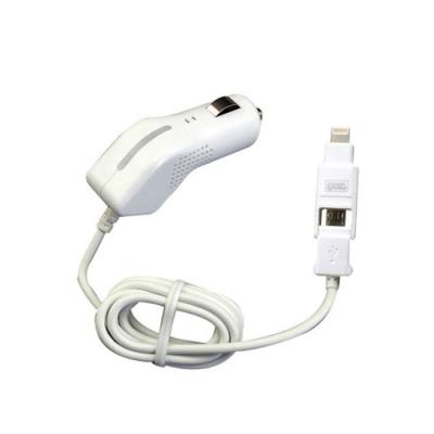 YAC Apple Lightning-MicroUSB轉換車用充電器(TP-193)