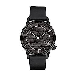 KOMONO Winston 腕錶-石墨黑/41mm