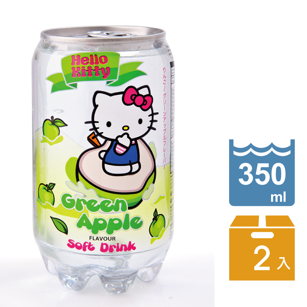 Glinter 凱蒂貓加味氣泡水-蘋果口味(350mlx2)