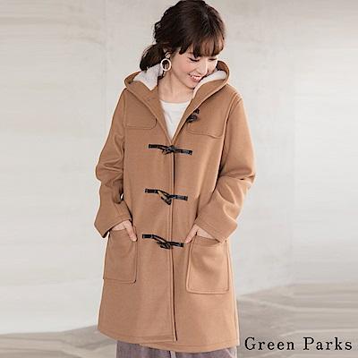 Green Parks 氣質保暖牛角扣長版外套