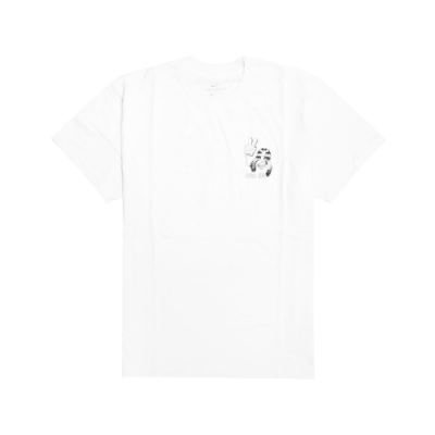 Nike T恤 SB Skate T-Shirt 男款 滑板 塗鴉 運動休閒 圓領 棉質 白 黑 CW1465100