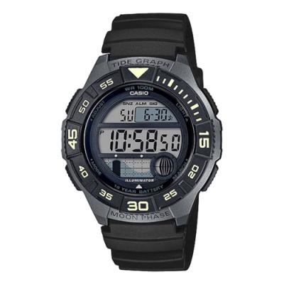 CASIO 活力青春運動腕錶(WS-1100H-1AVDF)黑/40mm