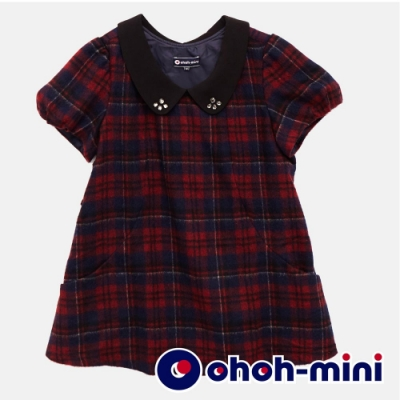 【ohoh-mini 孕哺裝】高雅蘇格蘭格紋孕哺上衣